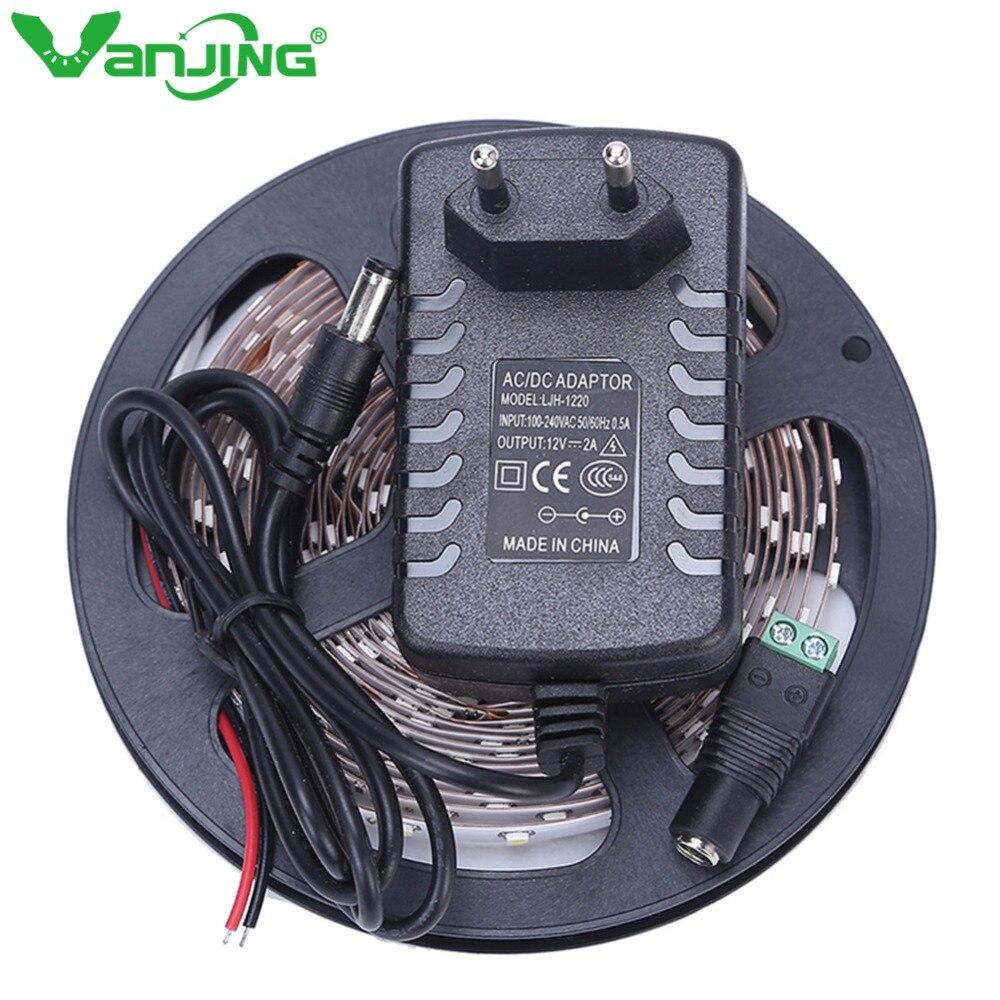 LED Streifen Licht 5 mt 300 Leds SMD 3528 Diode Band 12 v mit 2A Power Adapter Versorgung Hohe Qualität LED-Band Flexible Ledstrip