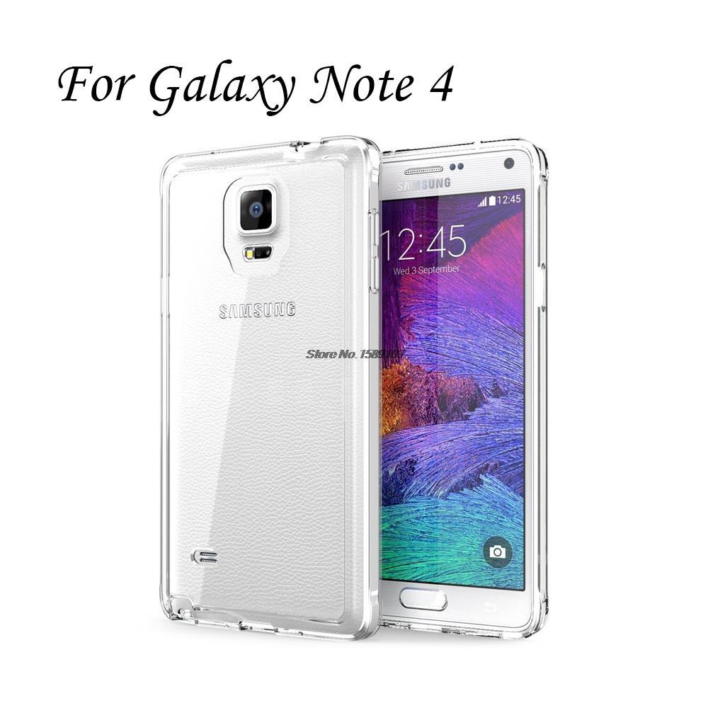 Holazing оптовая продажа прозрачный гель ТПУ Резиновая Мягкий силиконовый чехол для Samsung Galaxy Note 4 ультра тонкий защитный кожного покрова