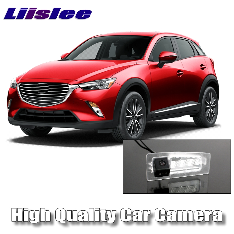 LiisLee Car Camera DC 6V For Mazda CX-3 CX3 CX 3 Akari High Quality Night View Rear View Back Up Backup Camera CCD with RCA 1 pc outer rear tail light lamp taillamp taillight rh right side gr1a 51 170 for mazda 6 2005 2010 gg page 1