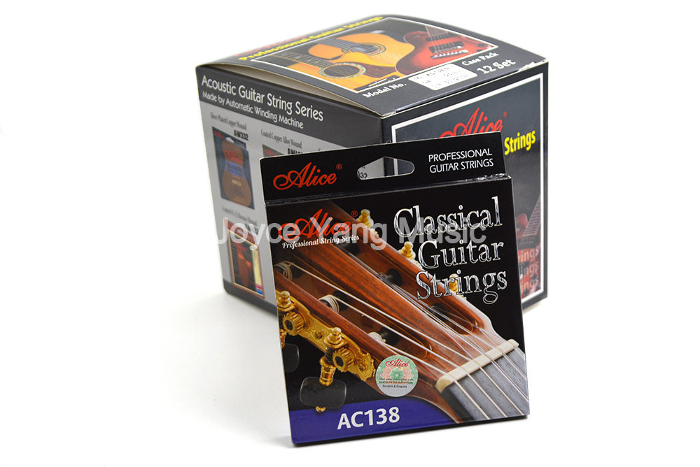 12 Sets of Alice AC138-N/H Classical Guitar Strings Crystal Nylon Strings Silver-Plated 85/15 Bronze Wound 1st-6th Strings savarez 510ar nylon classical guitar strings high quality performance level guitar strings