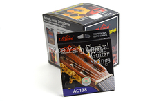 12 Sets of Alice AC138 N/H Classical Guitar Strings Crystal Nylon Strings Silver Plated 85/15 Bronze Wound 1st 6th Strings