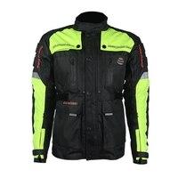 Бесплатная доставка 1шт Новый мотоцикл куртка безопасности теплая удобная спортивная одежда Hi Vis одежда для мотоцикла с 7 шт колодки
