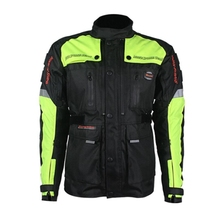 Free shipping 1pcs Newest Motorcycle Safety Jacket Warm Comfy Sportwear Hi-Vis Motorbike Clothes With 7pcs pads