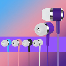 Colorful Candy Earphone 100% Original Fashion 3.5mm HD HiFi In-Ear Stereo Earbuds Headset For Xiaomi iPhone Samsung MP3/4 LENFAI
