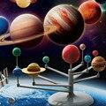 2017 детских Образовательных DIY Изучить Девять Планет в Солнечной Системе Планетарий Живопись Науки Выставочный Проект Преподавания Игрушки