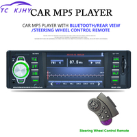 Auto Bluetooth Radio Player Car MP3 Card Player 4.1 Inch OLED Color Screen Car MP5 Player U Disk Support Backing Image Display