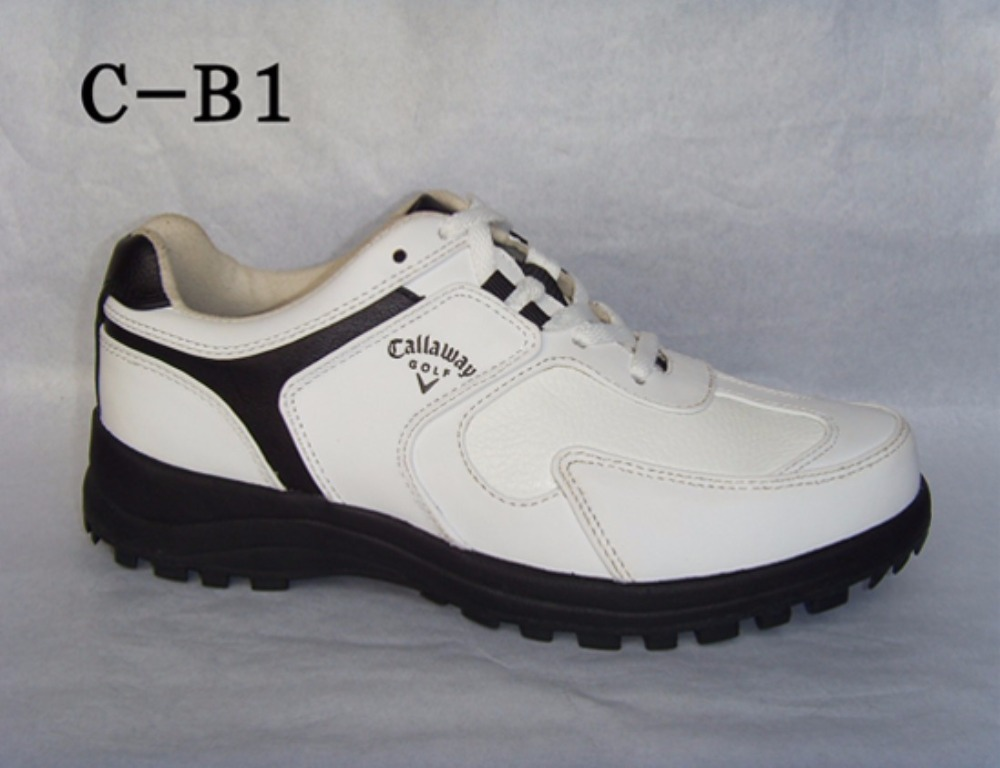 Hot style special golf shoes Men leather leather shoes callaway shoes supplies male fixed without nail