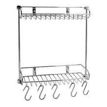 Полочка для ванны WasserKRAFT K-1422 (5 крючков в комплекте, хромоникелевое покрытие, нержавеющая сталь)