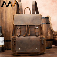 MVA genuine leather backpack men laptop/anti theft/travel backpacks for men large capacity crazy horse backpack men's daypack