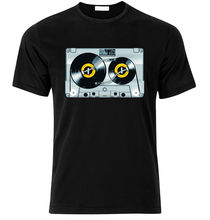 цена на Old school DJ tape vinyl retro Cassette 80's 90's Music T-SHIRT  Harajuku Tops Fashion Classic Unique t-Shirt gift free shipping