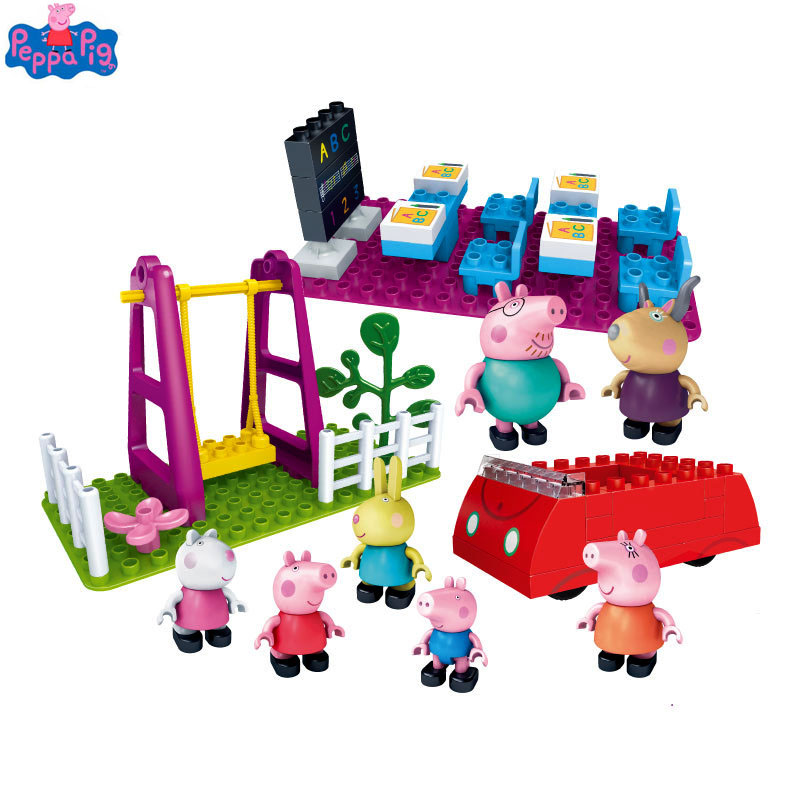 New Arrival Genuine Peppa Pig Figure Sceney Toy Peppas School Life with Family Friends Rebecca Kaidi Teacher Toys for KidsNew Arrival Genuine Peppa Pig Figure Sceney Toy Peppas School Life with Family Friends Rebecca Kaidi Teacher Toys for Kids
