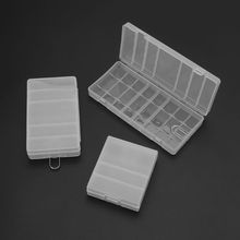 Hard Plastic Transparent Storage Box Case Cover Holder For AA / AAA Battery