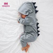 a08070b32f8 MUQGEW Newborn Infant Baby Boy Girl Dinosaur Hooded Romper Jumpsuit Outfits  Clothes Kawaii Solid Clothing jumpsuit