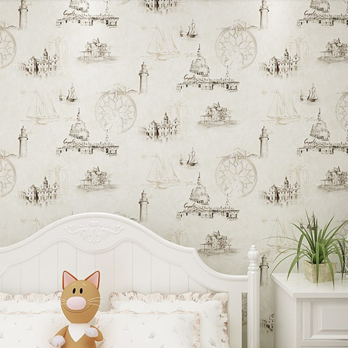 European Castle Retro Mural For Children Baby Boy Room Wall Paper Roll Decor Kids Boys Bedroom