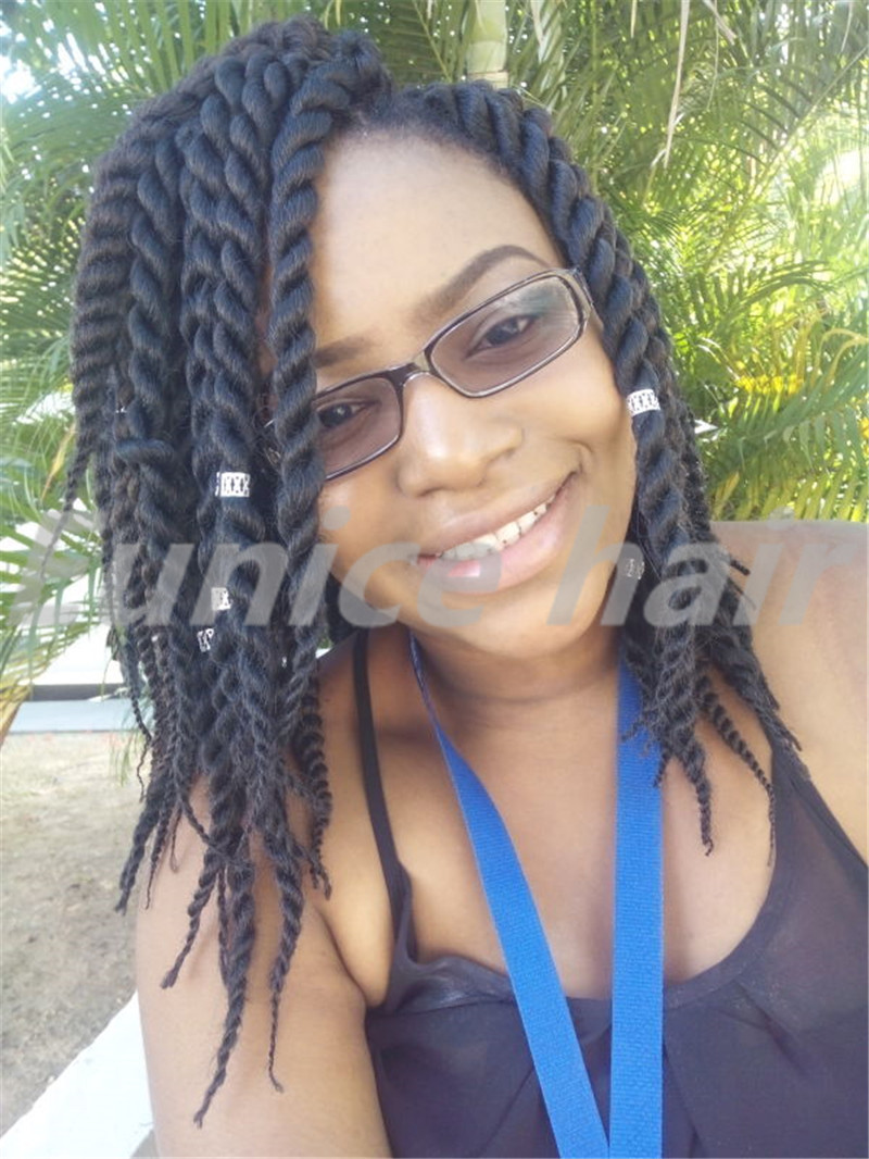 Eunice Brand Havana Mambo Twist Box Braids Style Two Strand Of Hair Elastic Colored Crochet African Extensions On Aliexpress Alibaba