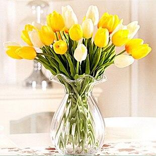 unidslote pu zapatos de un solo pequeo tulipn de seda artificial flores