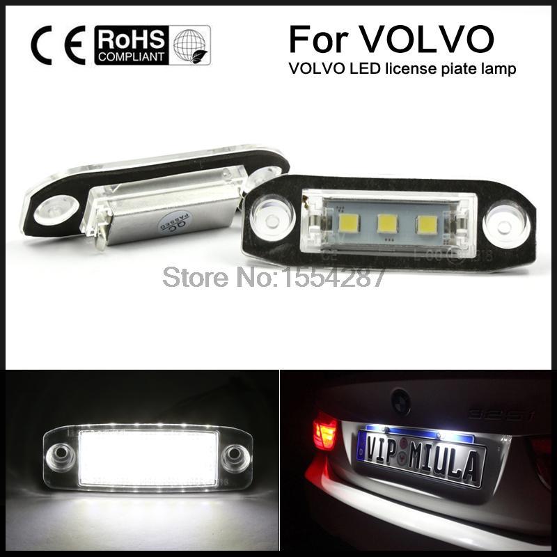 2х мочь-шины СИД SMD белый свет номерного знака для Вольво S80 или V70 S40 на XS60 Хс90 ХС60 с V60 V50 с