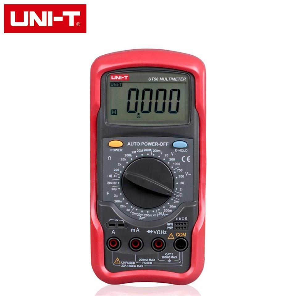 UNI-T UT56 Digital Multimeter Portable Voltmeter Tester Meter AC/DC frequency multimeter Ammeter Multitester 19999 Display