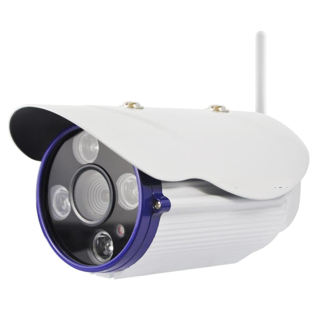 Full 1080P HD ONVIF WIFI IP Bullet Camera with 4 Super Power Night Vision LED Can Reach 35meters IR Distance & Waterproof IP66