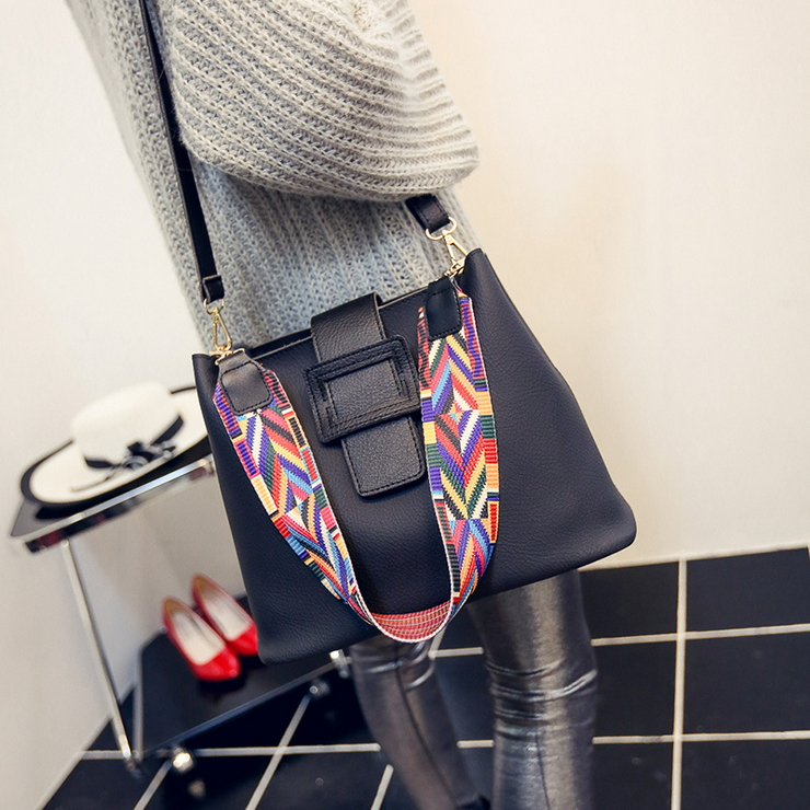 ФОТО 2017 European Style Large Capacity Bucket Bags For Women Leather Handbag Retro Simple Lady Shoulder Messenger Bag Set Sac a main