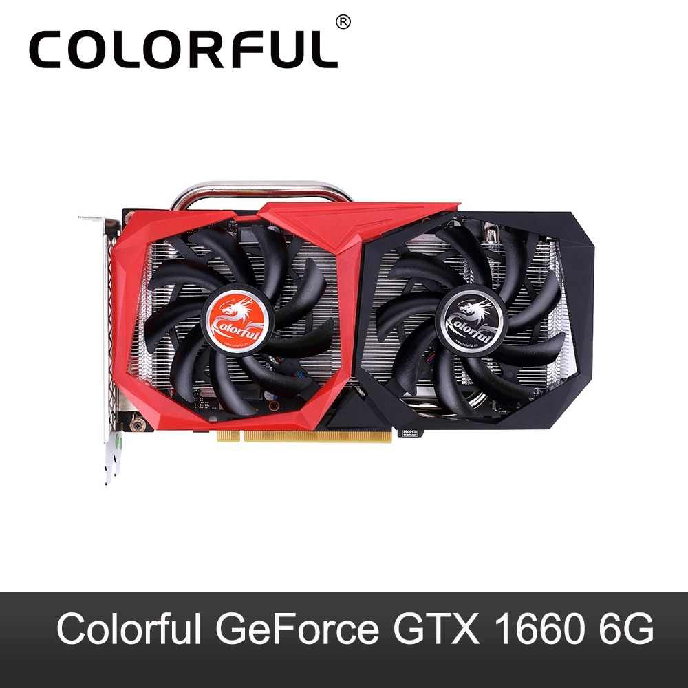 Colorful GeForce GTX 1660 Graphic Card Nvidia GPU NB 6G GDDR5 Video Card 192 Bit PCI-E3.0 HDMI +DVI Graphics Card For PC Gaming