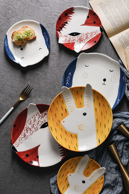 HTB1yO0JaLjsK1Rjy1Xaq6zispXam.jpg 640x640 - tabletop-and-bar, dinnerware - Kawaii Animal Plates