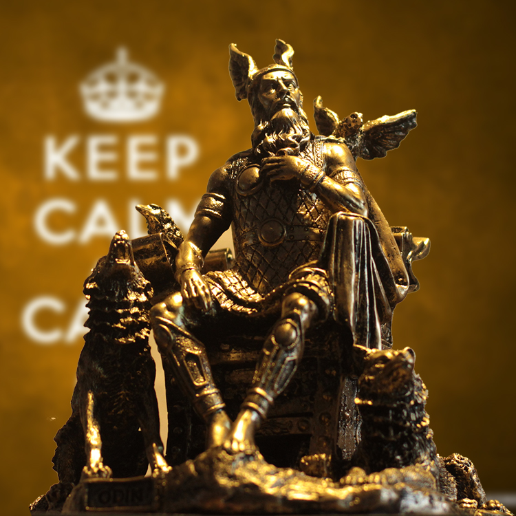 Antique Odin Statue Handmade Resin North Europe Myth Warrior God Character Figure Decoration Art and Craft Ornament Accessories statue