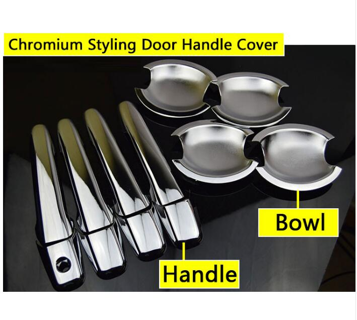 Chrome Door Handle Cover For Mazda 6 2002-2008 Atenza 2003 2004 2005 2006 2007 Sedan Wagon Car Sticker Car Styling Good Quality nitro triple chrome plated abs mirror 4 door handle cover combo