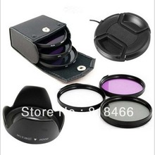 UV CPL FLD Lens Filter Kit Lens Cap Zonnekap 49/52/55/58/62/ 67/72/77mm voor canon nikon pentax sony nex camera 500d 600d d5100