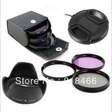 UV CPL FLD Lens filtre kiti Lens Kapağı Lens Hood 49/52/55/58/62/67 /72/77mm canon nikon pentax sony nex kamera 500d 600d d5100