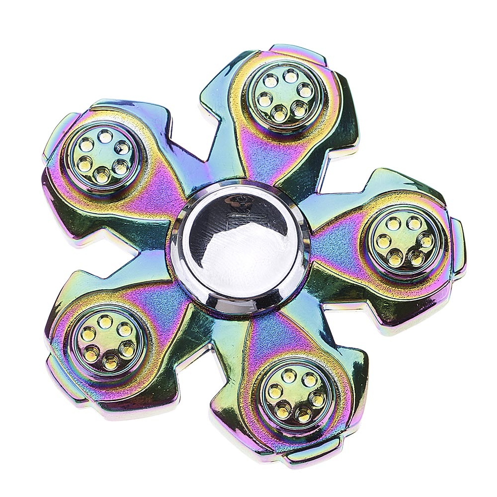 New Colorful Five Flower ADHD Anxiety Autism Stress Reducer Fidget Hand Spinners
