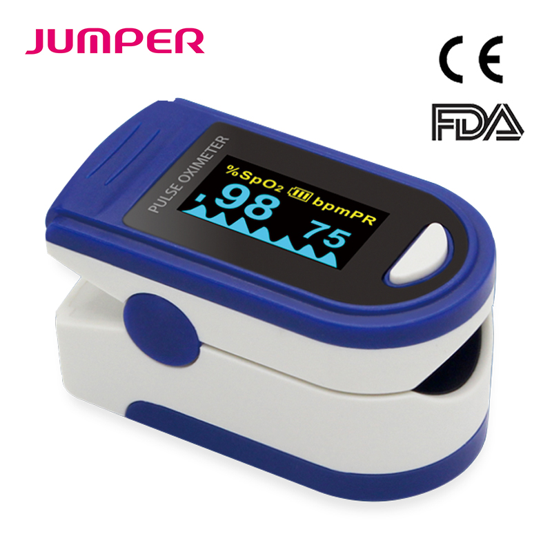 Fingertip Pulse Oximeter Rate OLED Display Portable Pulse Rate SpO2 Measuring Health Care Oxygen Alarm Setting CE FDA JPD-500C