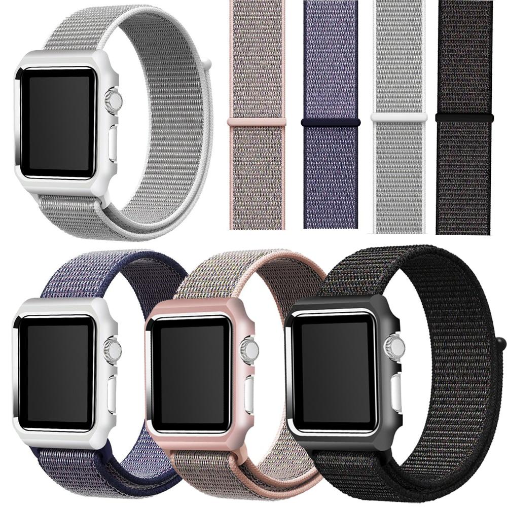 цена на Joyozy Lightweight Breathable Nylon Sport Loop Band for Apple Watch Series 3 2 1 42MM 38MM for iWatch watchband Sport Loop 