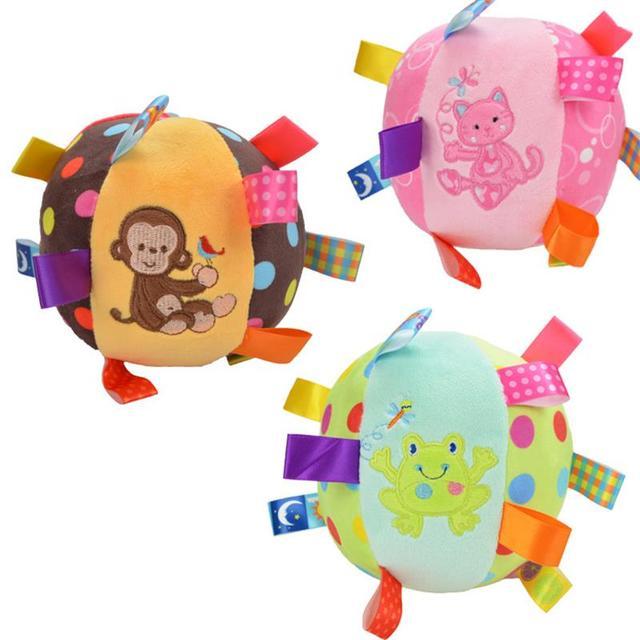 brinquedos para bebes dos desenhos animados bola de pelúcia colorido