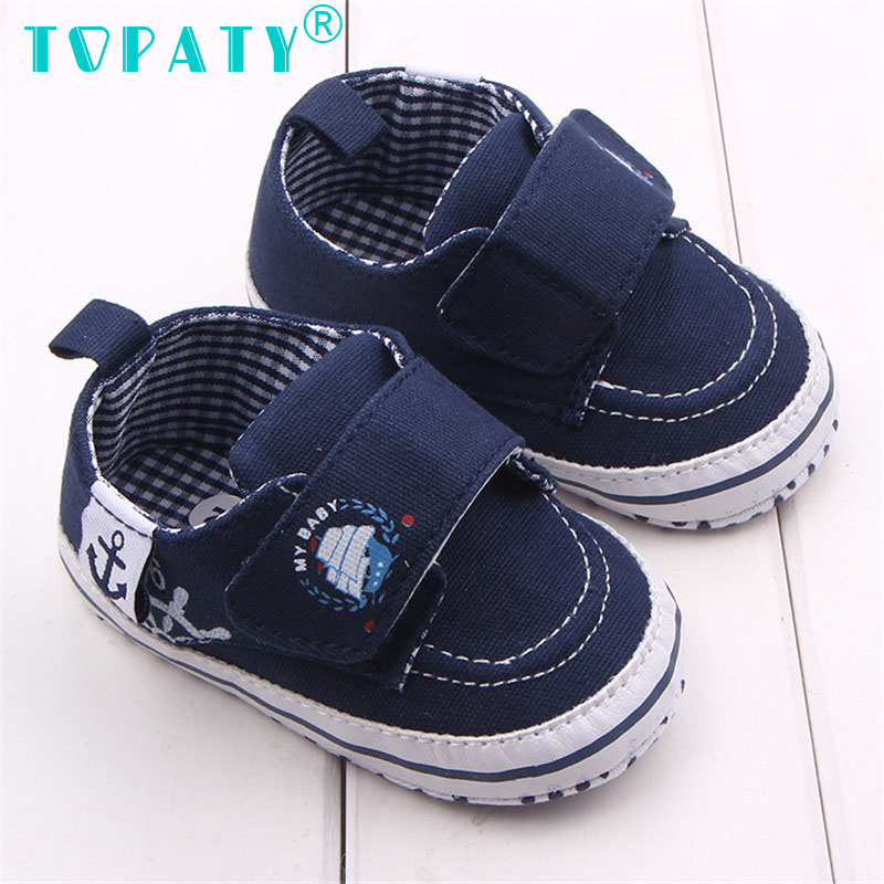 TOPATY Brand New Baby Boys Boat Anchor Toddler Shoes Infant Non-slip First Walkers Sapatos De Bebe Zapatos