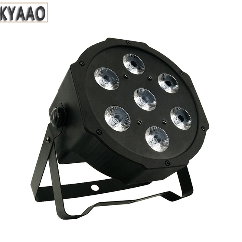 7*10W RGBW 4in1 led par light disco DMX background light dj club professional project home christmas party light