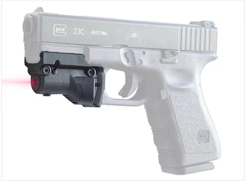 Тактический лазерный прицел BLUCAMP, 5 мВт, красная точка для Glock 19 23 22 17 21 37 31 20 34 35 37 38, для пистолетной винтовки, страйкбола, охоты