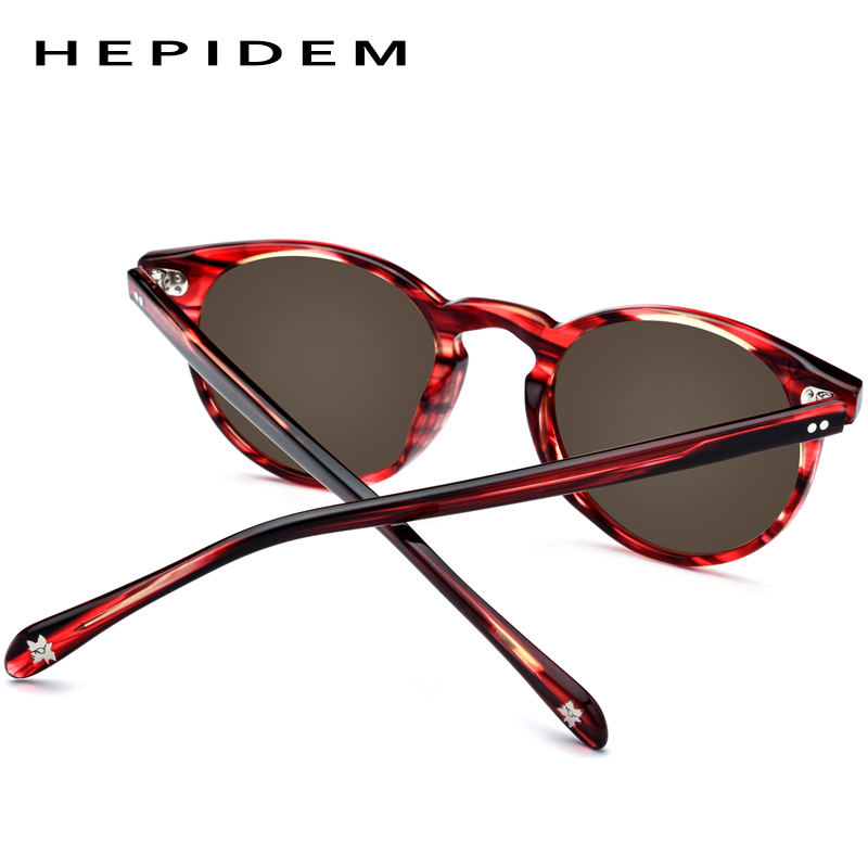Image 5 - Acetate Polarized Sunglasses Women 2019 New Vintage Retro Circle Round Sun Glasses for Men Women's Transparent Sunglass 9113-in Women's Sunglasses from Apparel Accessories on AliExpress