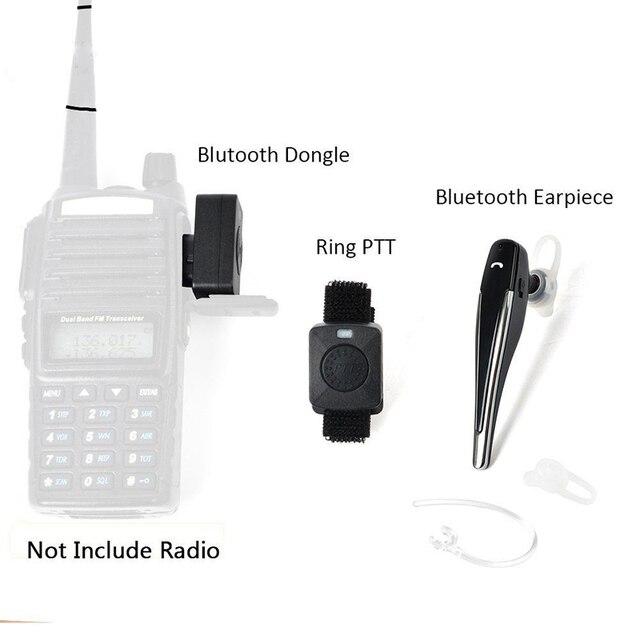 6d1121a7f37 Wireless Walkie Talkie Bluetooth Headset Earpiece For Motorola KENWOOD  Headset Baofeng UV-5R UV-