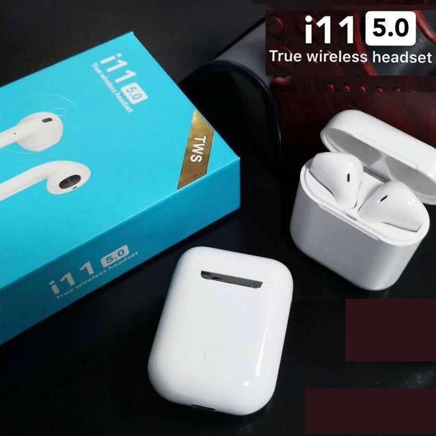 Neue i11 TWS Wahre Drahtlose Ohrhörer 5,0 Bluetooth Kopfhörer Kopfhörer Luft Schoten Drahtlose Kopfhörer Blutooth Headset PK i10 i12