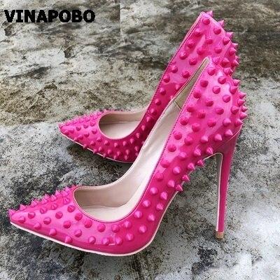 6fb62c37 Vinapobo Dedo 8cm Estilete Zapatos De Tacones Rojo 10cm Sexy Cm Punta  Mujeres Del Bombas 12cm ...