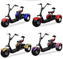 FREE TAX 1000W hub motor 12AH or 20AH Harley 3 wheel electric scooter
