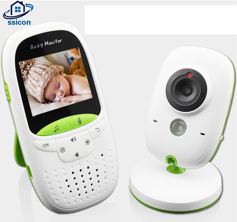 SSICON Video Baby Monitor Wireless With 2.0 Inch LCD 2 Ways Audio Talk Night Vision Surveillance Security Camera Babysitter