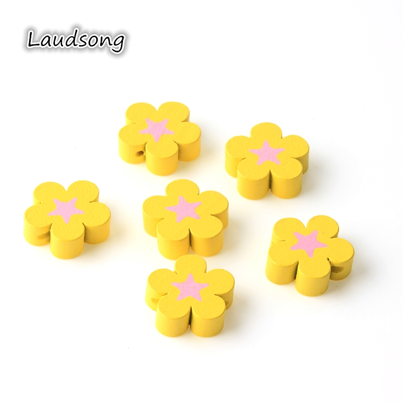 100PCS 8MM FLOWER PAINTED MACROPOROUS ACRYLIC BEADS FOR JEWELLERY MAKING