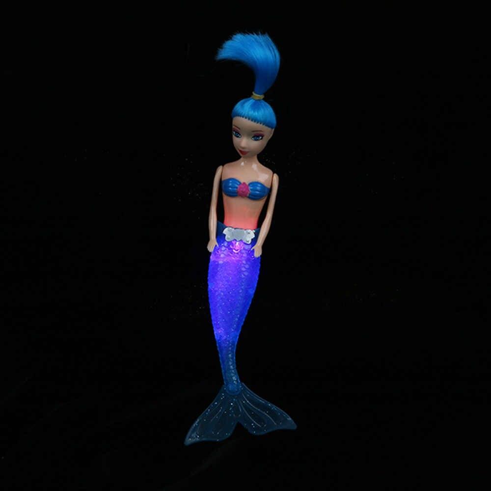 Горячая Ручная работа водонепроницаемый куклы вечерние платья платье Мода кукольная юбка одежда светодиодный Плавание Подлинная игрушка Русалка хвост платье Дети Подарки