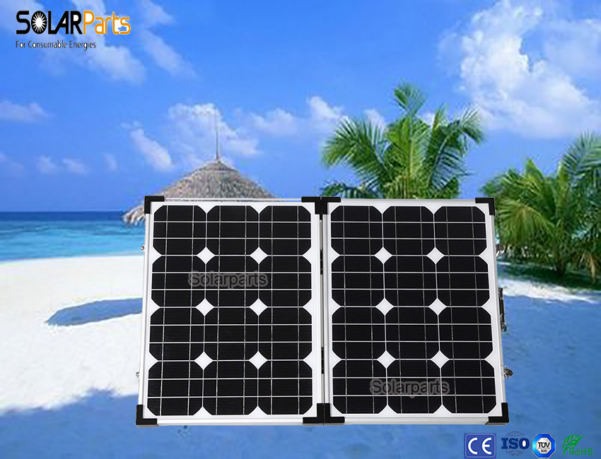 Foldable high efficiency solar panel power 70W charger mobile phones tablets and digital camera Waterproof outdoor camping use .