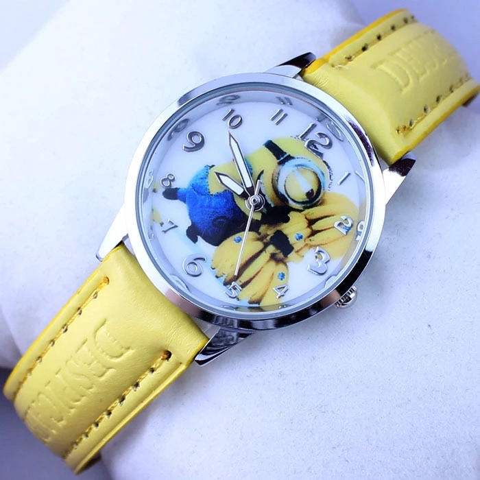 Cartoon Cartoon Banana Minion God Stole My Father's Big Eyes Cute Despicable Me Children's Boy Female Type Student Watch
