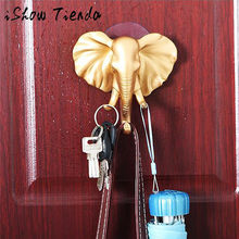 Elephant Head Strong Self Adhesive Door Wall Hangers Towel Mop Handbag Holder Hooks For Hanging Kitchen Bathroom Accessories(China)