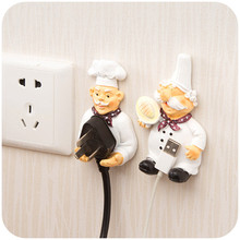 Cartoon Self Adhesive Sticky Hook Electric Wire Plug Storage Hanger Brand New Household Storage Racks Home Office Wall Accessory
