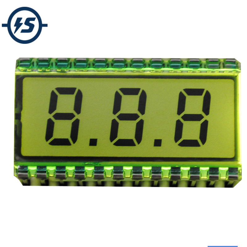 EDS812 3 Bit LCD Display Module Digit Clock 30.7*16.2*2.8mm 8 Characters 5V LCD Screen Glass